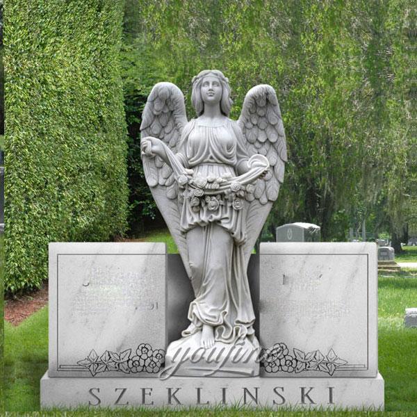 Ангел молится из гранита для декора