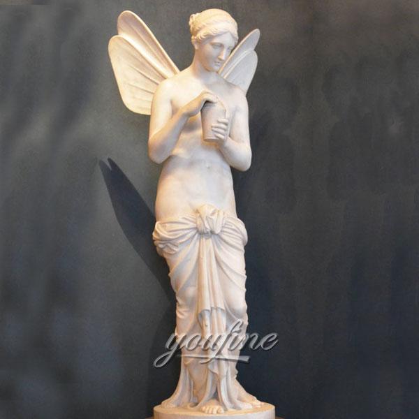 Мраморные статуэтки белых ангелов