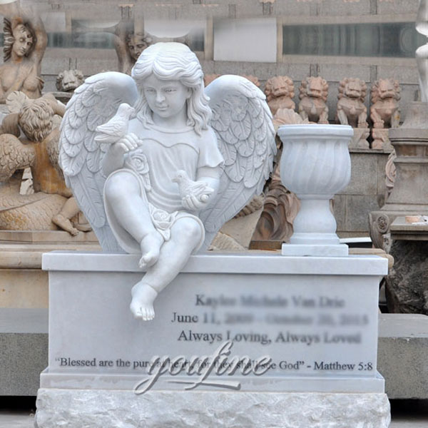 Памятник ангел на могилу для детей