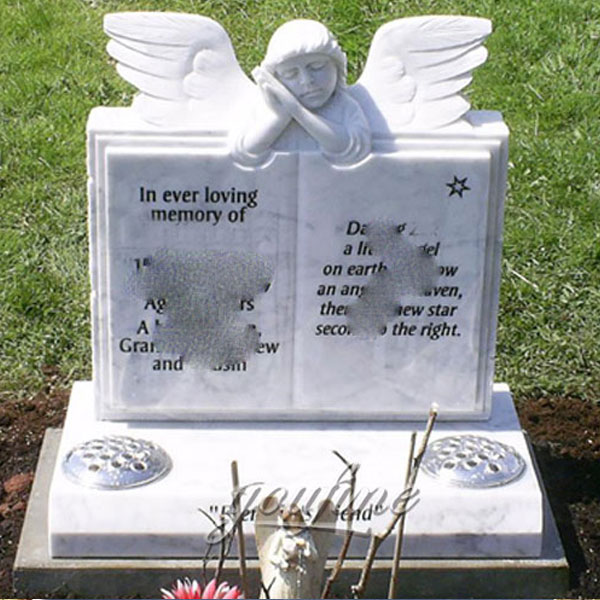 Памятник ангел с книгами на могилу