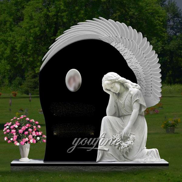 Памятник с ангелом любимому на кладбище
