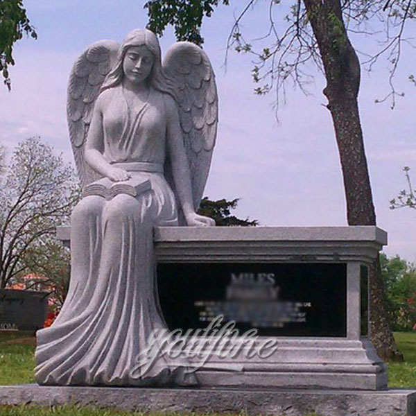 Плачущий ангел из гранита на могилу