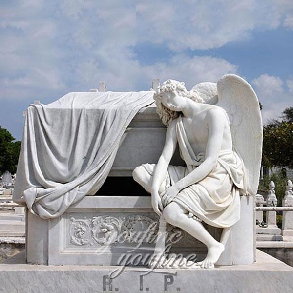 Плачущий ангел из мрамора на могилу