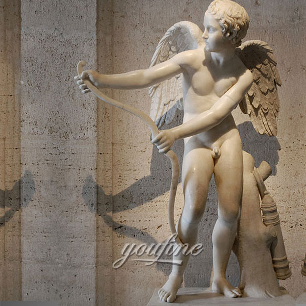 Скульптура ангелов из натурального мрамора
