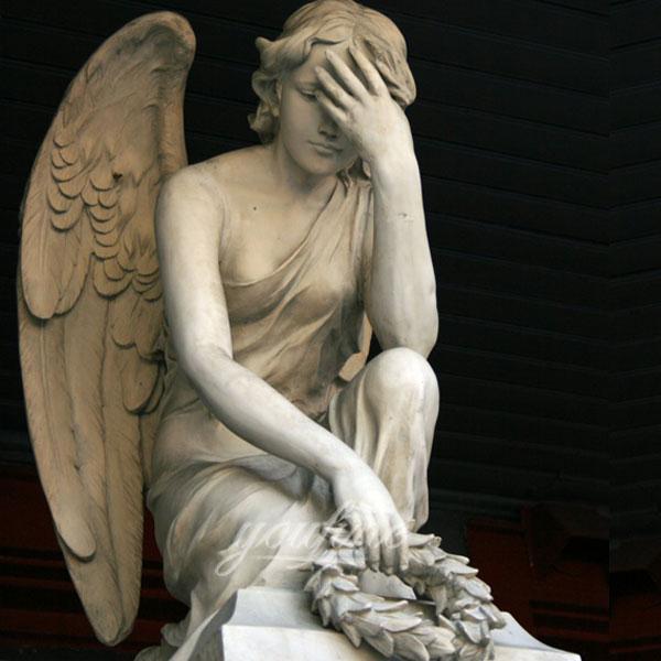 Скульптура скорбящего ангела для декар