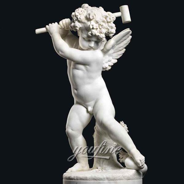 Статуэтка ангел из мрамора для декора
