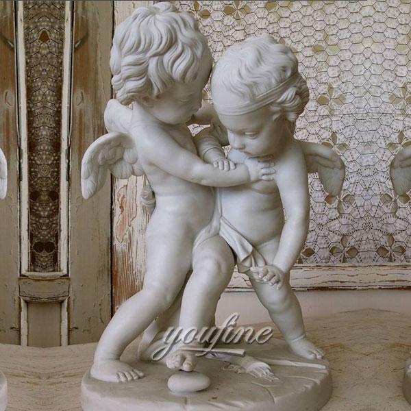 Статуэтка два ангел детей из мрамора в доме