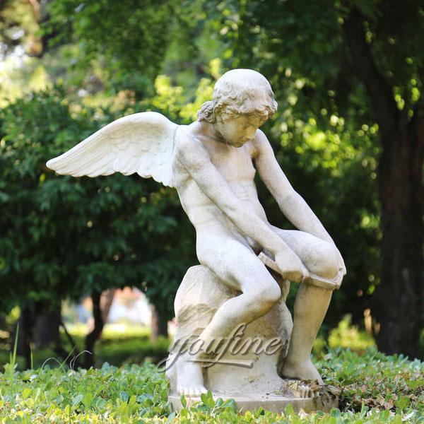 Уличные фигуры ангелов в интерьере из мрамора