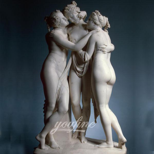 Мраморная статуя три грации для декара