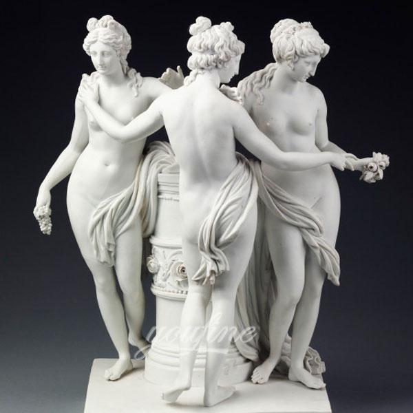Мраморная статуя три грации для сада