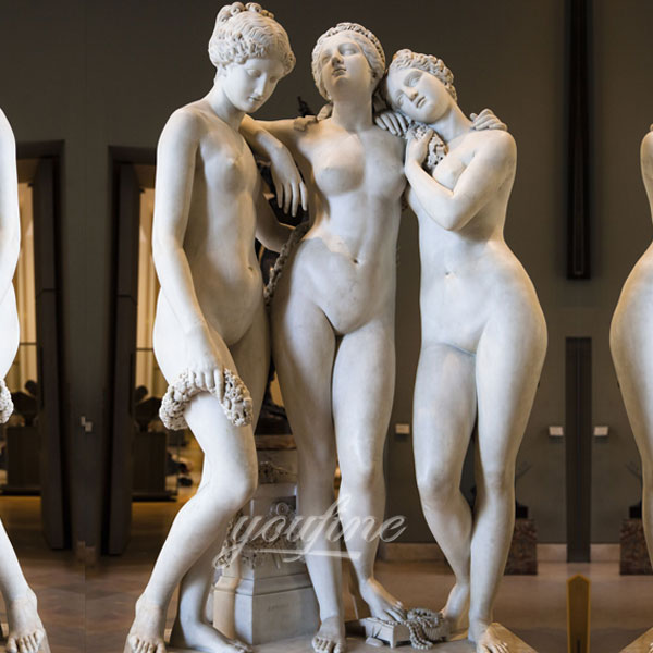 Мраморная статуя три грации