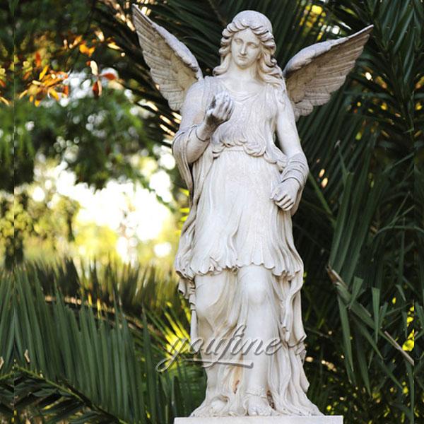 Мраморный белый ангел для сада