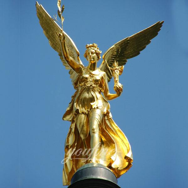 Статуя ангела из бронзы для сада