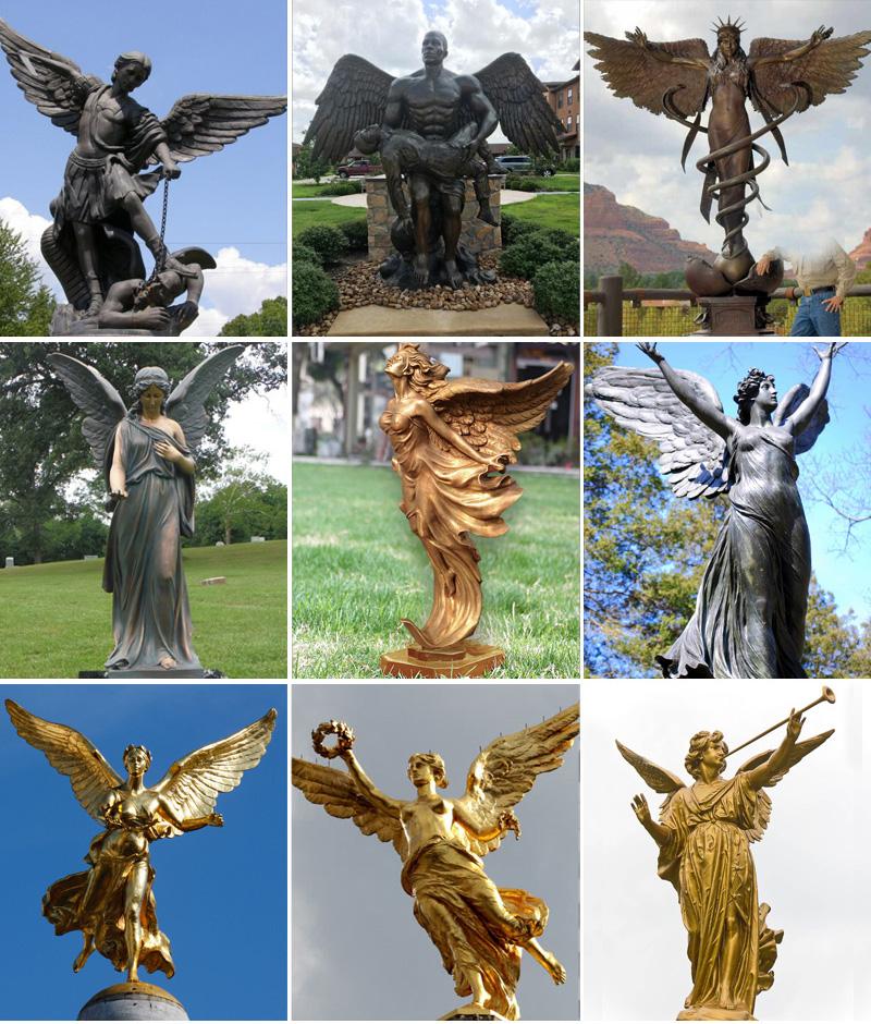 Статуя ангела из бронзы