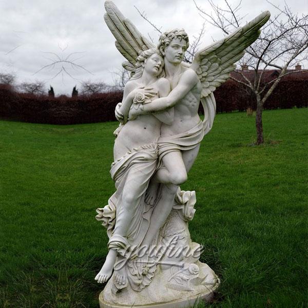 Статуя ангела из мрамора для сада