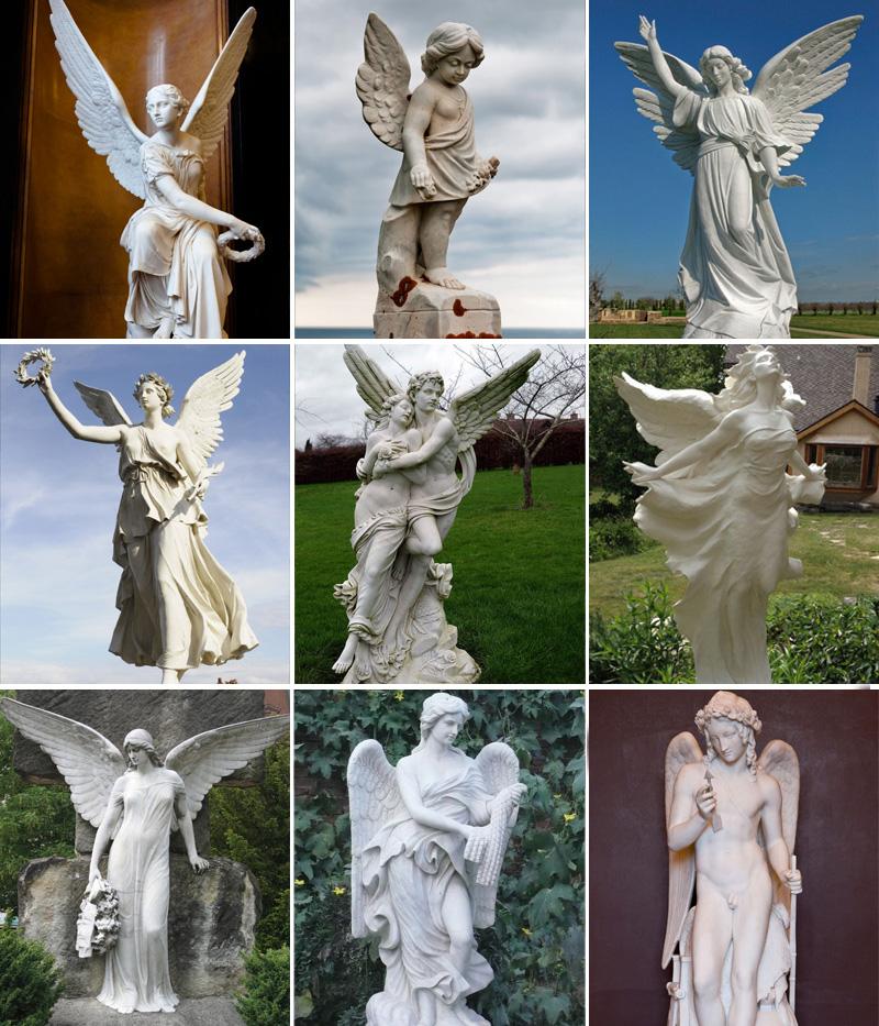 в натуральную величину скульптуры рогатый ангелов