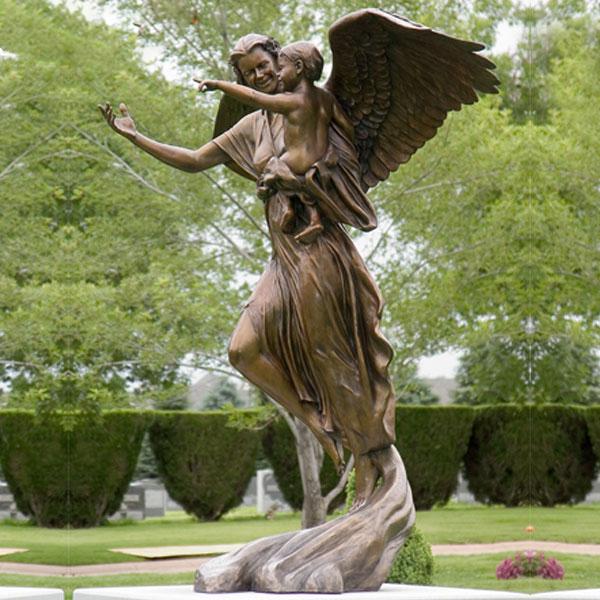 Высокое Качество Красивый Сад Индивидуальные Бронзовая Классическая Угловая Скульптура для Продажи-BOKK-144