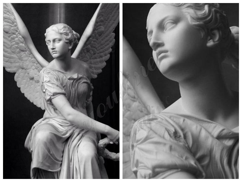 мастер на открытом воздухе мрамор ангел луна кольцо статуя продажа
