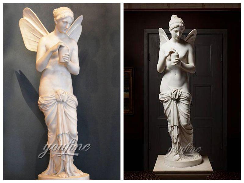 0Ангел Психеи Бертеля Торвальдсена с мраморной статуей на крыльях на продажу (6)