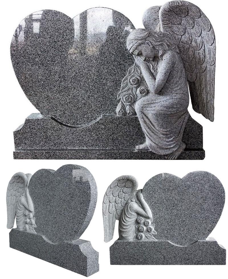 0Натуральный гранитный ангел мраморный памятник статуя дизайн на продажу (2)