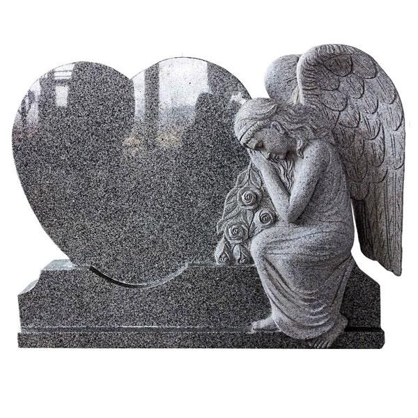 0Натуральный гранитный ангел мраморный памятник статуя дизайн на продажу (3)