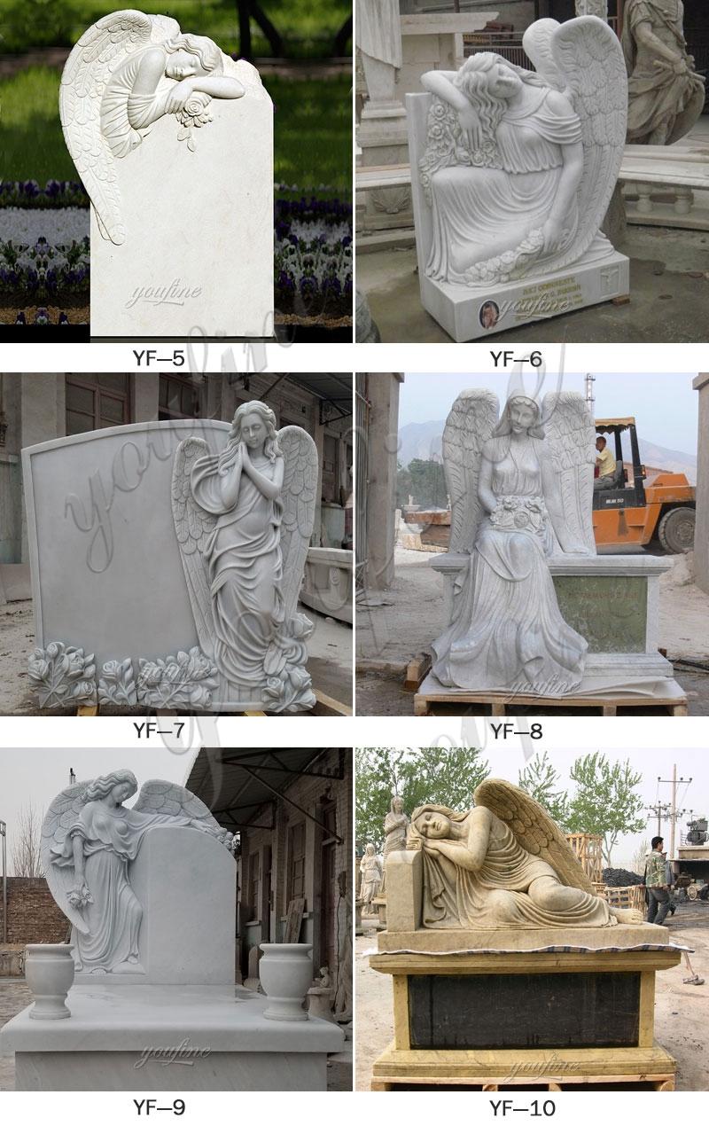 0Натуральный гранитный ангел мраморный памятник статуя дизайн на продажу (5)