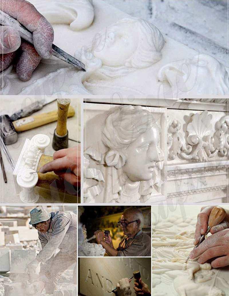 Памятники из черного гранита, надгробие, резная статуя ангела-плача MOKK-415