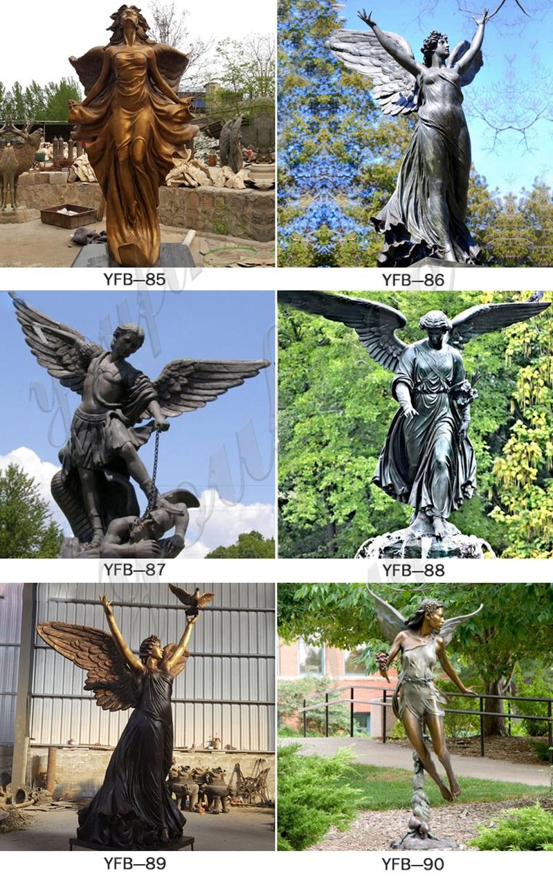 Высокое качество литья в натуральную величину бронзовая статуя ангела на продажу BOKK-158