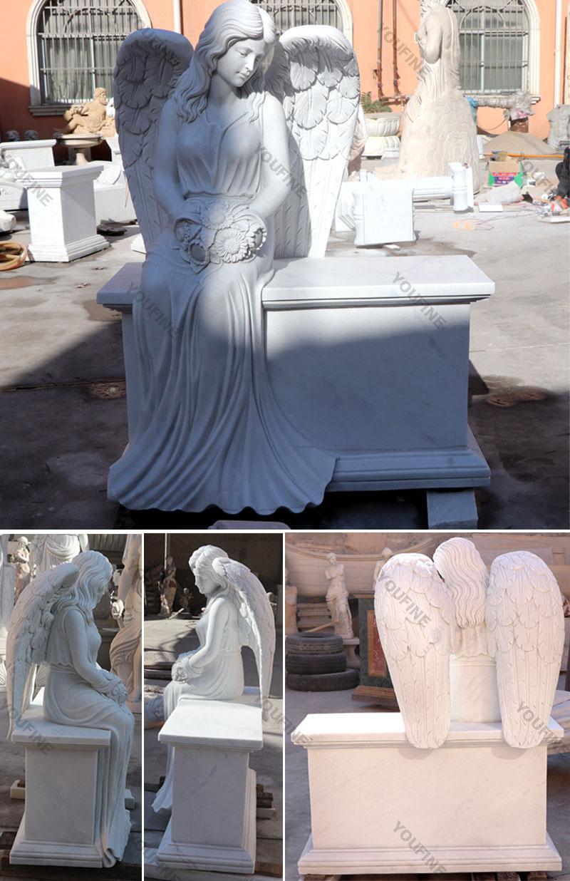 белый мраморный памятник