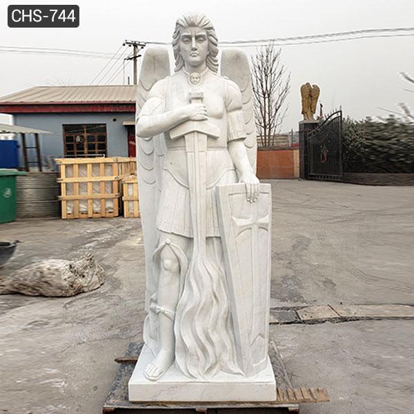 Известная мраморная статуя архангела католическая святая скульптура дизайн реплики на продажу CHS-744